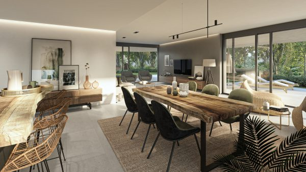 Living Room in the Apartments at Village Verde